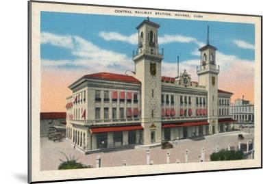 'Central Railway Station, Havana, Cuba', c1910-Unknown-Mounted Giclee Print