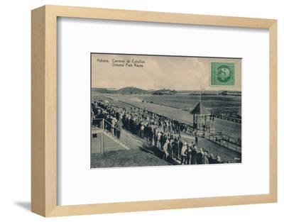 'Habana. Oriental Park Races', c1910-Unknown-Framed Photographic Print