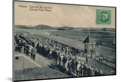 'Habana. Oriental Park Races', c1910-Unknown-Mounted Photographic Print