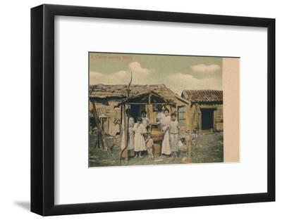 'A Cuban country family', 1908-Unknown-Framed Photographic Print