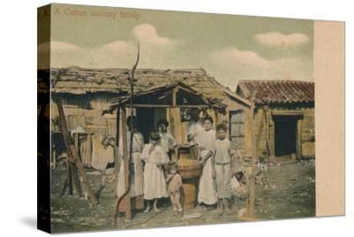 'A Cuban country family', 1908-Unknown-Stretched Canvas Print