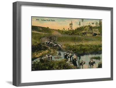 'Cuban Pack Train', c1910-Unknown-Framed Giclee Print