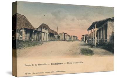 'Guantanamo - Block of Maravilla', c1910-Unknown-Stretched Canvas Print