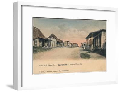 'Guantanamo - Block of Maravilla', c1910-Unknown-Framed Giclee Print