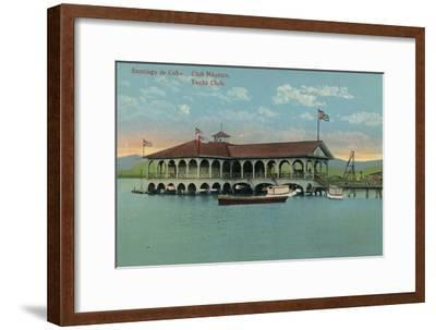 'Santiago de Cuba. Club Nautico. Yacht Club',c1910-Unknown-Framed Giclee Print