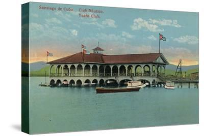 'Santiago de Cuba. Club Nautico. Yacht Club',c1910-Unknown-Stretched Canvas Print