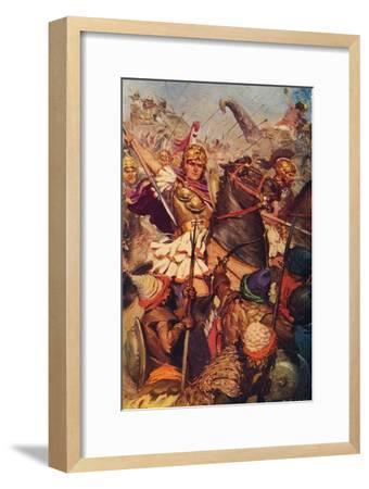 'Alexander at the Battle with Porus', 326 BC (c1912)-Unknown-Framed Giclee Print