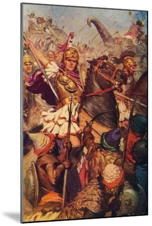 'Alexander at the Battle with Porus', 326 BC (c1912)-Unknown-Mounted Giclee Print