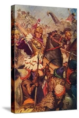 'Alexander at the Battle with Porus', 326 BC (c1912)-Unknown-Stretched Canvas Print