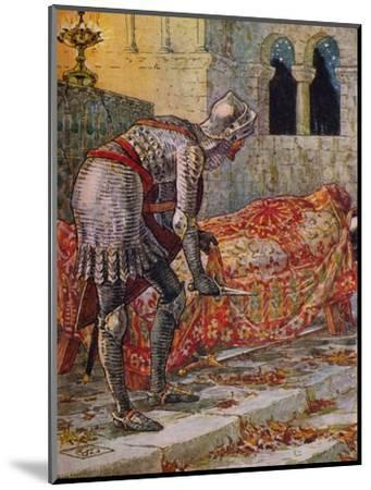 'Sir Lancelot in the Chapel Perilous', 1911-Walter Crane-Mounted Giclee Print