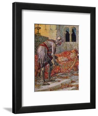 'Sir Lancelot in the Chapel Perilous', 1911-Walter Crane-Framed Giclee Print