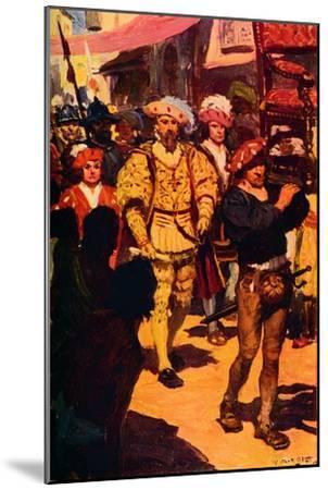 'Vasco Da Gama Visiting the King of Calicut', 1498 (c1912)-Unknown-Mounted Giclee Print