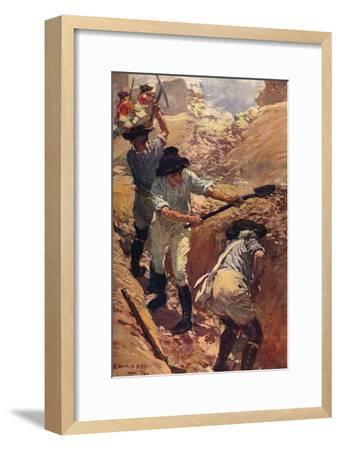 'Clive in the Trenches at Arcot', 1751 (c1912)-Unknown-Framed Giclee Print