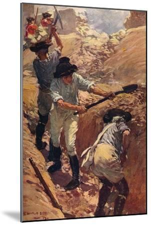 'Clive in the Trenches at Arcot', 1751 (c1912)-Unknown-Mounted Giclee Print