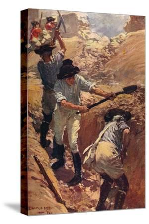'Clive in the Trenches at Arcot', 1751 (c1912)-Unknown-Stretched Canvas Print