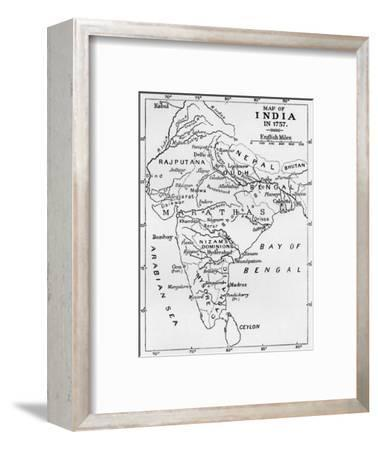 'Map of India in 1757', (c1912)-Unknown-Framed Giclee Print