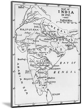 'Map of India in 1757', (c1912)-Unknown-Mounted Giclee Print