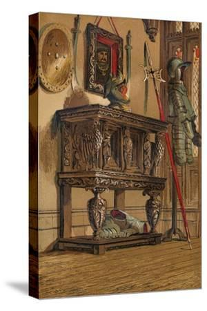 'Elizabethan Sideboard or Court Cupboard', c1845, (1864)-Unknown-Stretched Canvas Print