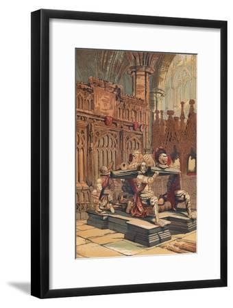 'Tomb of Sir Francis Vere in Westminster Abbey', c1845, (1864)-Unknown-Framed Giclee Print