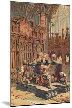 'Tomb of Sir Francis Vere in Westminster Abbey', c1845, (1864)-Unknown-Mounted Giclee Print