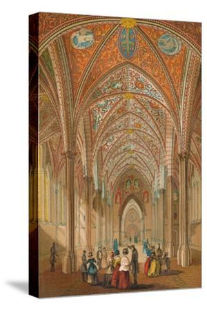 'Interior of the Temple Church', c1845, (1864)-Unknown-Stretched Canvas Print