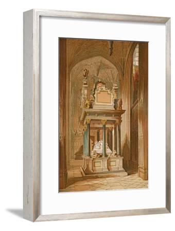 'Tomb of Queen Elizabeth. - Westminster Abbey', c1845, (1864)-Unknown-Framed Giclee Print