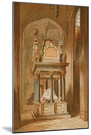 'Tomb of Queen Elizabeth. - Westminster Abbey', c1845, (1864)-Unknown-Mounted Giclee Print
