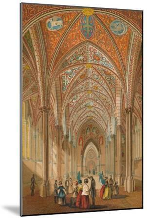 'Interior of the Temple Church', c1845, (1864)-Unknown-Mounted Giclee Print
