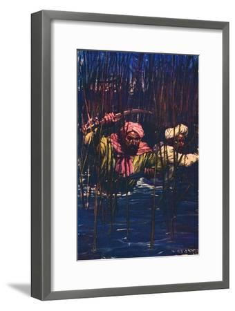 'Kavanagh and Kunuji in the Swamp', 1857 (c1912)-Unknown-Framed Giclee Print
