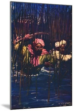 'Kavanagh and Kunuji in the Swamp', 1857 (c1912)-Unknown-Mounted Giclee Print