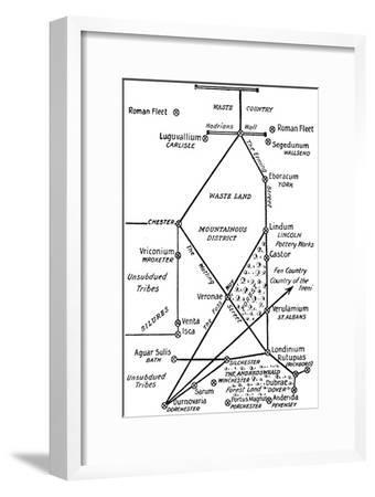 'The Four Principal Roman Lines of Communication in Britain', 1910-Unknown-Framed Giclee Print