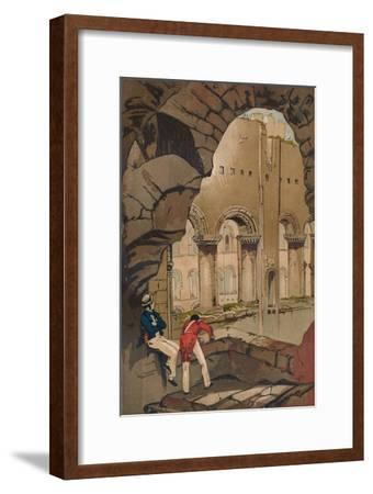 'Rochester Castle. - Interior', c1845, (1864)-Unknown-Framed Giclee Print