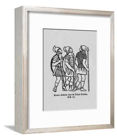 'Roman Soldiers from the Trajan Column A.D. 114', 1910-Unknown-Framed Giclee Print