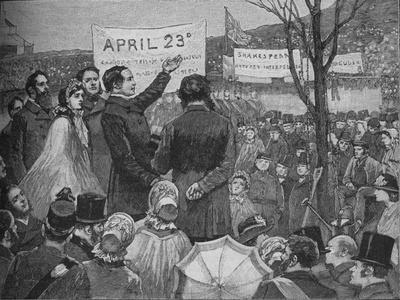'Mr Phelps Planting The Shakespeare Oak on Primrose Hill, London', c1890-Unknown-Framed Giclee Print