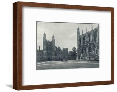 'School Yard and Chapel', 1926-Unknown-Framed Photographic Print