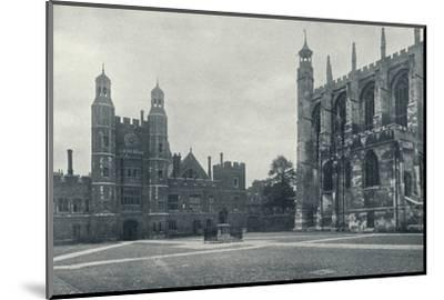 'School Yard and Chapel', 1926-Unknown-Mounted Photographic Print