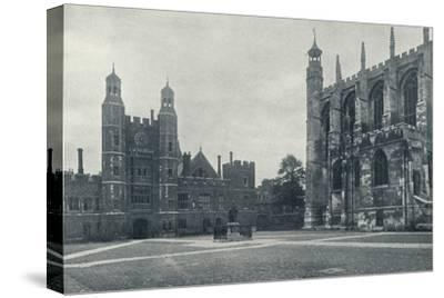 'School Yard and Chapel', 1926-Unknown-Stretched Canvas Print