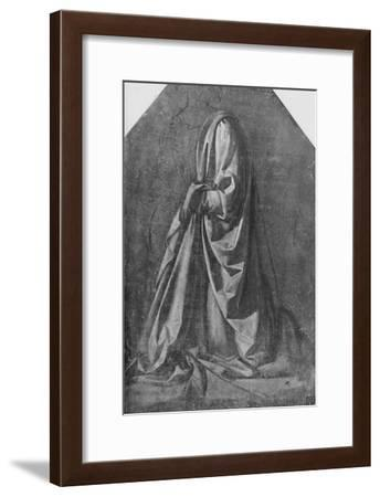 'Cast of Drapery for a Figure Kneeling to the Left', c1475 (1945)-Leonardo da Vinci-Framed Giclee Print