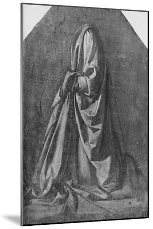 'Cast of Drapery for a Figure Kneeling to the Left', c1475 (1945)-Leonardo da Vinci-Mounted Giclee Print