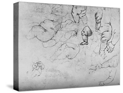 'Studies of a Child', c1490 (1945)-Leonardo da Vinci-Stretched Canvas Print