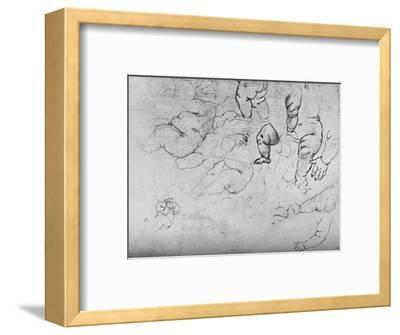 'Studies of a Child', c1490 (1945)-Leonardo da Vinci-Framed Giclee Print