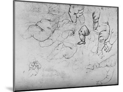 'Studies of a Child', c1490 (1945)-Leonardo da Vinci-Mounted Giclee Print