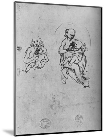 'Three Studies of a Madonna and Child', c1475 (1945)-Leonardo da Vinci-Mounted Giclee Print