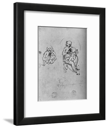 'Three Studies of a Madonna and Child', c1475 (1945)-Leonardo da Vinci-Framed Giclee Print