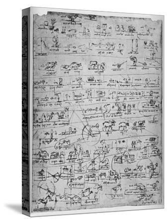 'Sheet of Pictographs', c1480 (1945)-Leonardo da Vinci-Stretched Canvas Print