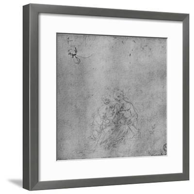 'Madonna and Child with the Infant St. John and an Angel', c1475 (1945)-Leonardo da Vinci-Framed Giclee Print