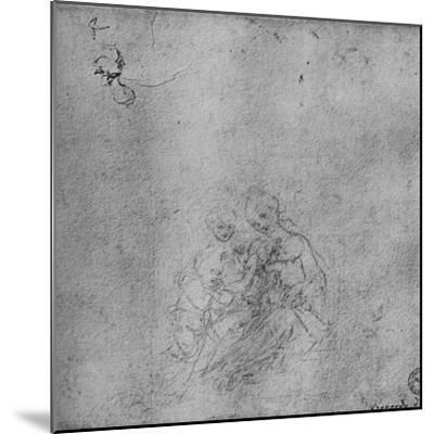 'Madonna and Child with the Infant St. John and an Angel', c1475 (1945)-Leonardo da Vinci-Mounted Giclee Print