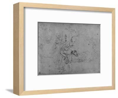 'An Allegory of Statecraft', c1480 (1945)-Leonardo da Vinci-Framed Giclee Print