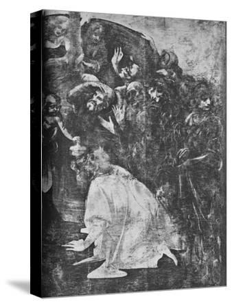 'Adoration of the Magi - Right-hand lower portion', c1481 (1945)-Leonardo da Vinci-Stretched Canvas Print