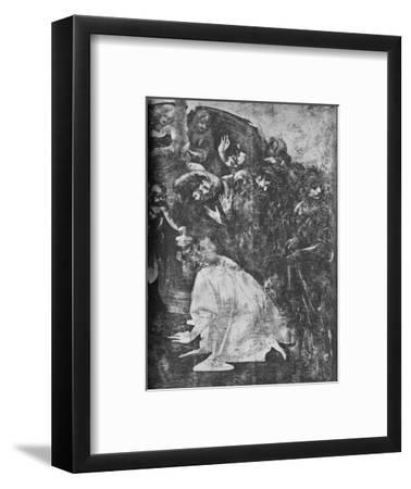 'Adoration of the Magi - Right-hand lower portion', c1481 (1945)-Leonardo da Vinci-Framed Giclee Print
